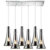 ELK Lighting Menlow Park 6 Light Pendant in Polished Chrome 60065-6RC