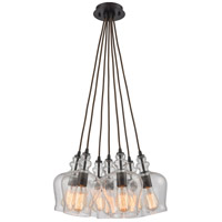 ELK 60066-7SR Menlow Park 7 Light 19 inch Oil Rubbed Bronze Mini Pendant Ceiling Light in Standard Nesting