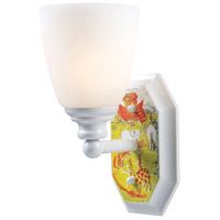 ELK Lighting Kidshine 1 Light Wall Sconce in White Noah Theme 60070-1