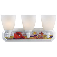ELK Lighting Kidshine 3 Light Bath Bar in White Noah Theme 60071-3