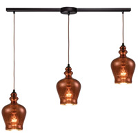 ELK 60086-3L Menlow Park 3 Light 36 inch Oil Rubbed Bronze Mini Pendant Ceiling Light in Linear with Recessed Adapter