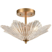 ELK 60164/3 Radiance 16 inch Satin Brass Semi Flush Mount Ceiling Light