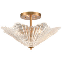 ELK 60165/4 Radiance 20 inch Satin Brass Semi Flush Mount Ceiling Light