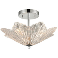 ELK 60174/3 Radiance 16 inch Polished Chrome Semi Flush Mount Ceiling Light
