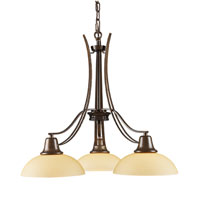 Franklin Creek 3 Light 21 inch Dark Umber Chandelier Ceiling Light