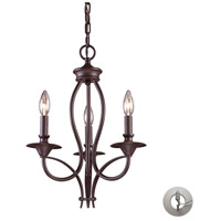 Medford 3 Light 14 inch Oiled Bronze Chandelier Ceiling Light in Recessed Adapter Kit