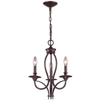 Medford 3 Light 14 inch Oiled Bronze Chandelier Ceiling Light