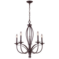 ELK Lighting Medford 5 Light Chandelier in Oiled Bronze 61032-5