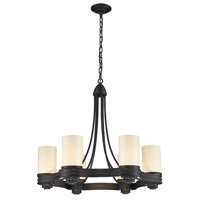 Waverly 6 Light 25 inch Aged Bronze Chandelier Ceiling Light
