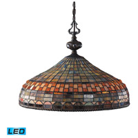 ELK Lighting Jewelstone 3 Light Pendant in Classic Bronze 611-CB-LED