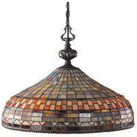 Jewelstone 3 Light 20 inch Classic Bronze Pendant Ceiling Light in Standard