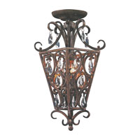 ELK Lighting Wellington 2 Light Semi-Flush Mount in Silver Leaf 61202