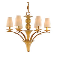 FONTANO 6 Light 30 inch Gold Leaf Chandelier Ceiling Light