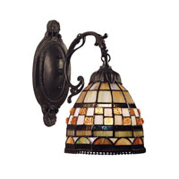 Jewelstone 1 Light 7 inch Classic Bronze Wall Sconce Wall Light