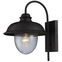 ELK Lighting Streetside Cafe 1 Light Outdoor Sconce in Matte Black 62000-1