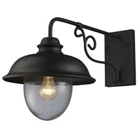 ELK Lighting Streetside Cafe 1 Light Outdoor Sconce in Matte Black 62001-1 photo thumbnail