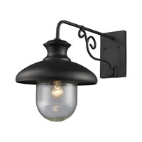 ELK Lighting Streetside Cafe 1 Light Outdoor Sconce in Matte Black 62002-1