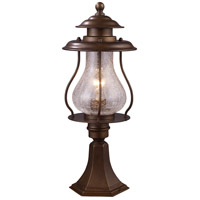 ELK Lighting Wikshire 1 Light Outdoor Post Light in Coffee Bronze 62007-1