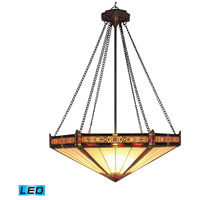 Filigree LED 22 inch Aged Bronze Pendant Ceiling Light