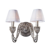 Renaissance 2 Light 14 inch Sunset Silver Sconce Wall Light