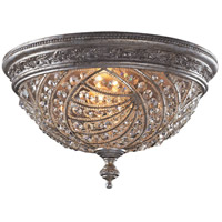 Renaissance 4 Light 16 inch Sunset Silver Flush Mount Ceiling Light