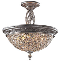 ELK 6233/6 Renaissance 6 Light 20 inch Sunset Silver Semi-Flush Mount Ceiling Light