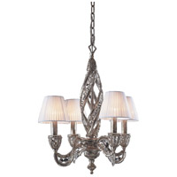 Renaissance 4 Light 19 inch Sunset Silver Chandelier Ceiling Light