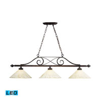 ELK Lighting Billiards 3 Light LED Pendant in Weathered Bronze 63004-3-LED