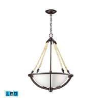 ELK Lighting Natural Rope 3 Light Pendant in Aged Bronze 63013-3-LED