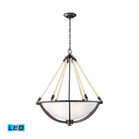 ELK Lighting Natural Rope 4 Light Pendant in Aged Bronze 63014-4-LED