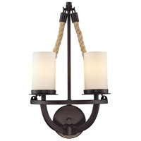 Natural Rope 2 Light 11 inch Aged Bronze Wall Sconce Wall Light