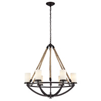 ELK 63042-6 Natural Rope 6 Light 29 inch Aged Bronze Chandelier Ceiling Light