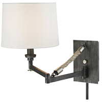 ELK Lighting Natural Rope 1 Light Swingarm in Silvered Graphite with Polished Nickel Accents 63050-1