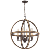 Elk Lighting Natural Rope 4 Light Chandelier in Oil Rubbed Bronze 63065-4