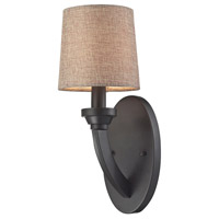 ELK Lighting Morrison 1 Light Sconce in Oil Rubbed Bronze with Wheat Glass 63070/1