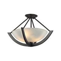 ELK Lighting Morrison 2 Light Pendant in Oil Rubbed Bronze with Opal White Glass 63071/2