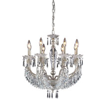 ELK Lighting Josephine 8 Light Chandelier in Sunset Silver 6326/8