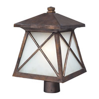 ELK Lighting Spencer 1 Light Outdoor Post Light in Hazelnut Bronze 64006-1