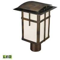 ELK Lighting San Fernando LED Outdoor Post Light in Hazelnut Bronze 64013-1