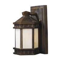ELK Lighting Mission Abbey 1 Light Outdoor Sconce in Hazelnut Bronze 64020-1