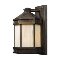 Mission Abbey 1 Light 12 inch Hazelnut Bronze Outdoor Sconce
