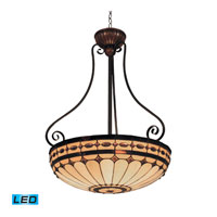 Diamond Ring LED 22 inch Burnished Copper Pendant Ceiling Light