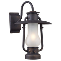 ELK 65004-1 Stagecoach 1 Light 12 inch Matte Black Wall Sconce Wall Light