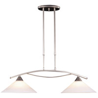 ELK 6501/2 Elysburg 2 Light 31 inch Satin Nickel Island Light Ceiling Light in Incandescent
