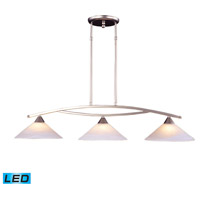 ELK Lighting Elysburg 3 Light Billiard/Island in Satin Nickel 6502/3-LED