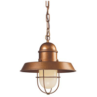 ELK Lighting Farmhouse 1 Light Pendant in Bellwether Copper 65049-1