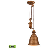 ELK 65060-1-LED Farmhouse LED 8 inch Bellwether Copper Pendant Ceiling Light