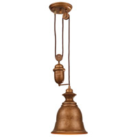 ELK Lighting Farmhouse 1 Light Pendant in Bellwether Copper 65060-1