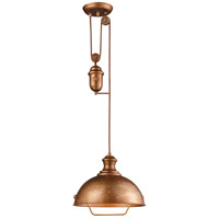 ELK Lighting Farmhouse 1 Light Pendant in Bellwether Copper 65061-1
