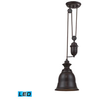 Farmhouse LED 8 inch Oiled Bronze Pendant Ceiling Light